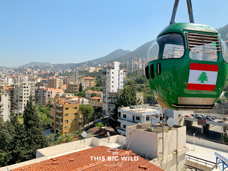 Ride the Teleferique cable car to Harissa on a daytrip from Beirut in Lebanon.
