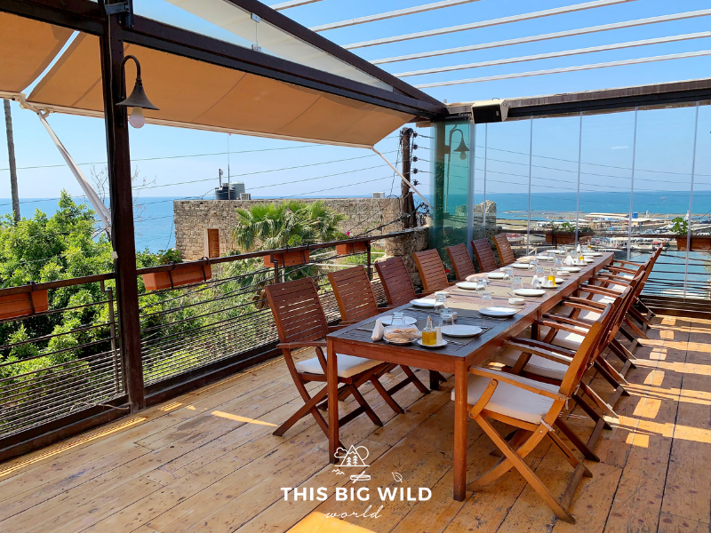 Grab a bite and enjoy the stunning views of the Mediterranean Sea from Malena Restaurant in Byblos.