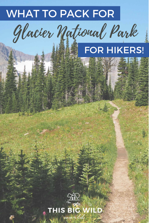 If you're planning to go hiking in Glacier National Park in Montana, be prepared. Here's what you should have in your pack for day hiking in Glacier National Park, including bear safety tips, hiking gear, and much more! Don't forget your camera either, because the views are breathtaking! #hiking #usnps #nationalparks #glacier #adventure