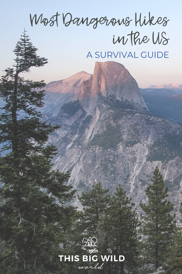 This list won't just tell you what the most dangerous hikes in the US, but how to survive them! These hikes include popular trails like Angel's Landing at Zion National Park as well as lesser known trails like Spooky Gulch in Utah and the Kalalau Trail in Kauai. Find out what to pack, trail safety tips and more! #hiking #usatravel