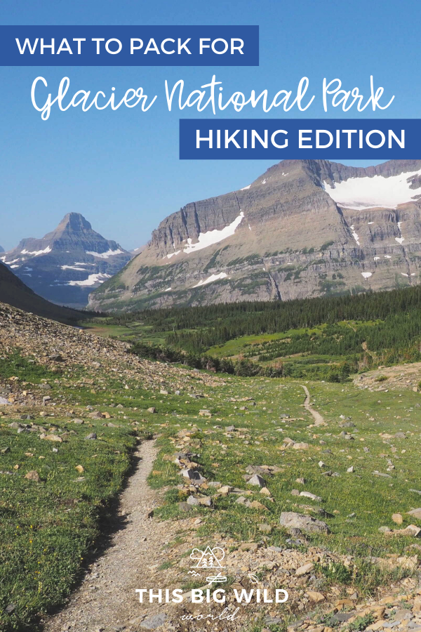 So you're going hiking in Glacier National Park? Awesome! But, what about the bears? And snow? Don't worry, I've got you covered. Here's everything you need to know about packing for day hiking in Glacier National Park, including bear safety tips, trail safety tips, recommended hiking gear and more! #usnationalparks #glacier #hiking #glaciernationalpark #montana #usatravel