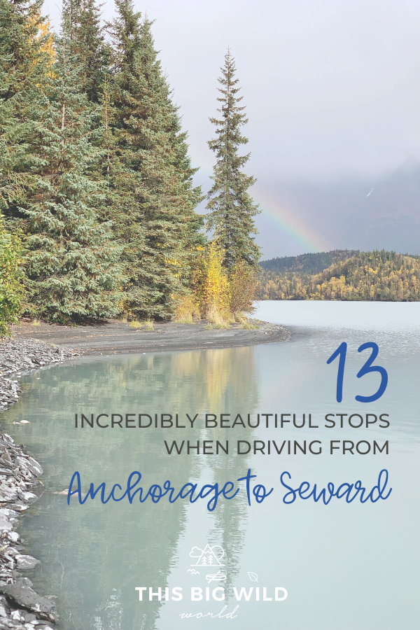 Driving from Anchorage to Seward Alaska is the most wonderful sensory overload. The Seward Highway is lined with stunning coastline, rugged mountains, and charming towns. Here are the 13 most beautiful stops along the Seward Highway including Potter Marsh, Girdwood, Portage, Exit Glacier, and more! Alaska travel tips | seward ak | usa travel | hiking
