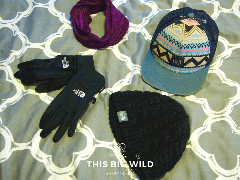 Don't forget your outerwear when packing for the Inca Trail hike in Peru, including wool hat, Buff, scarf and gloves.