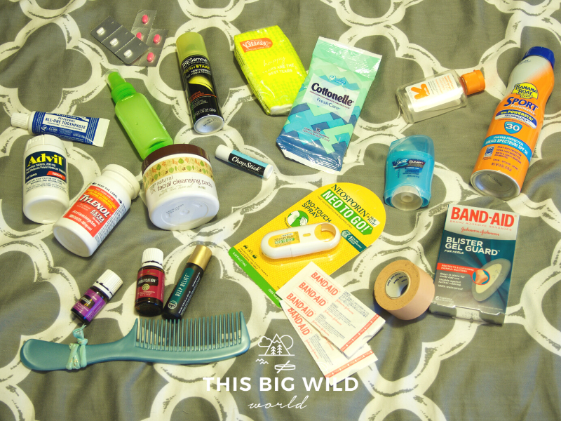 Bring essential toiletries and first aid items on the Inca Trail, including sunscreen, blister pads, antiseptic spray, face wipes, wet wipes and more!