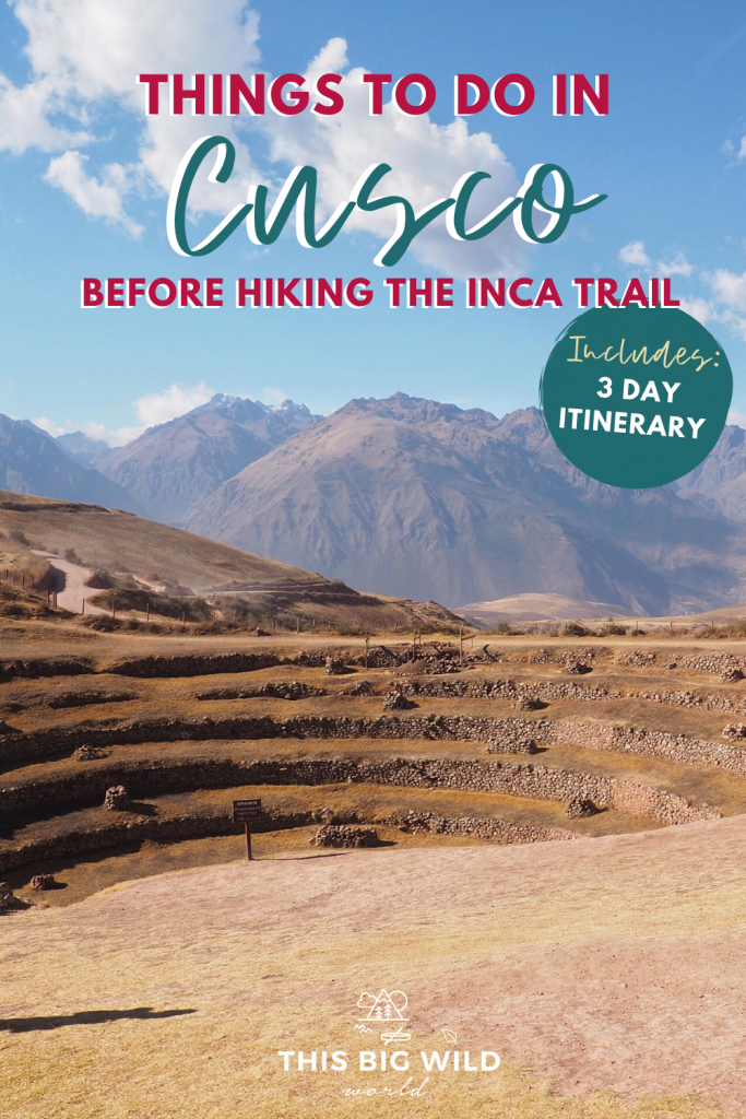 This Cusco itinerary is ideal for those hiking to Machu Picchu and the Sacred Valley. It includes the best things to do in Cusco Peru plus tips for acclimating for the Inca Trail. #incatrailhike #thingstodoCusco #Cuscoperu