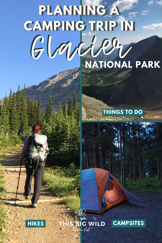Looking for things to do during your Montana vacation? You cannot miss camping in Glacier National Park. This guide also includes Glacier National Park hikes, safety tips & how to get there. #montanavacation #glaciernationalparkmontana #glaciernationalpark