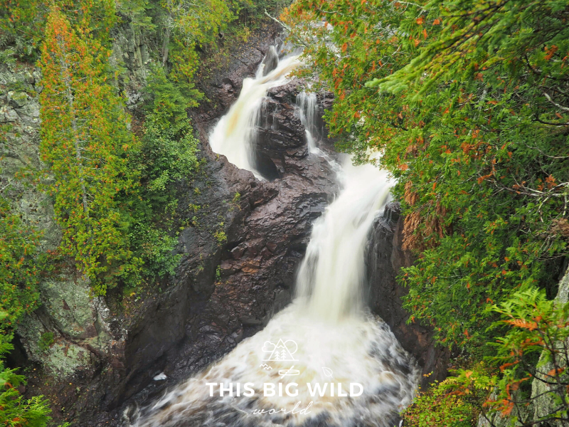 Devil's Kettle Falls is just one of the many waterfalls along the Superior Hiking Trail, particularly along the north shore of Lake Superior. It's located in Judge C.R. Magney State Park.