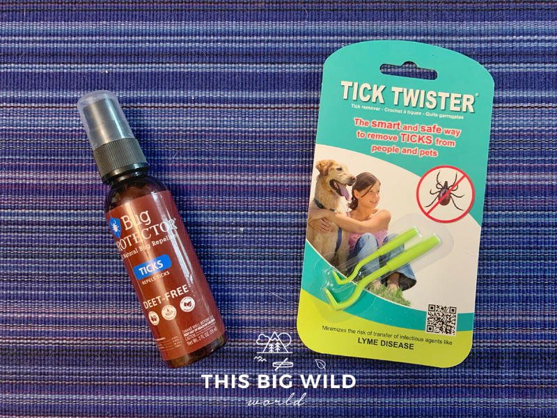 Bug Protector is an effective, natural, DEET-free tick repellent. Hikers should carry a tick twister with them to easily remove attached ticks from their body or their pets.