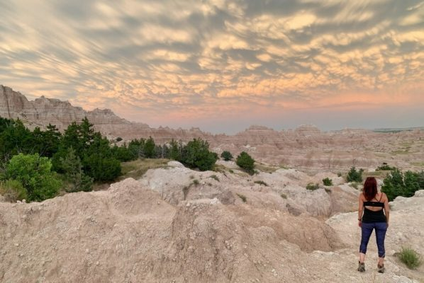 Marveling at the sunset is one of the best things to do in Badlands National Park