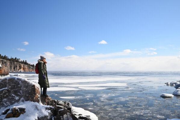 Two Harbors Minnesota in Winter Tettegouche State Park