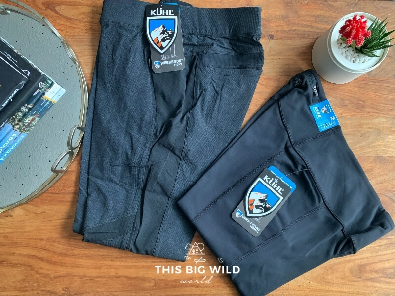 Kuhl's women's Weekendr Tights and Enduro Revers Leggings are some of my favorite summer hiking pants.